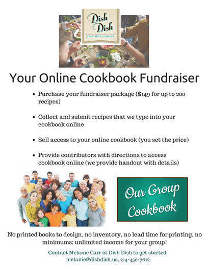 Easy Fundraising Idea - Your Group Digital Cookbook