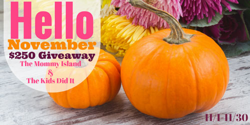 2018 Hello November $250 Cash Giveaway