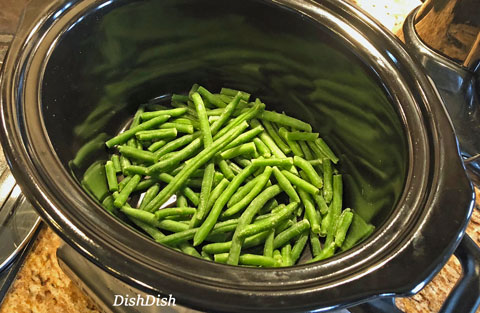 Green beans in crockpot