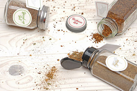 Homemade Grill Seasonings with Labels