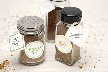 Homemade Grill Seasonings with Labels for Dad