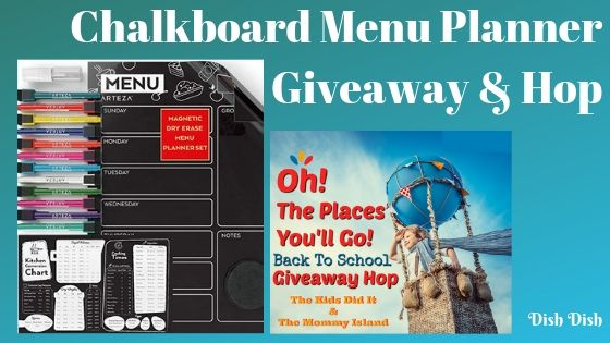 Chalkboard Menu Planner Giveaway and Hop | Dish Dish