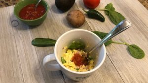 Omelette in a mug | microwave college cooking