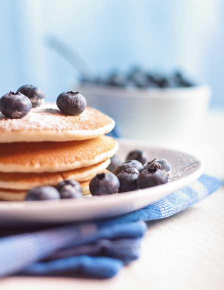 Pancakes with Blueberries - Unsplash