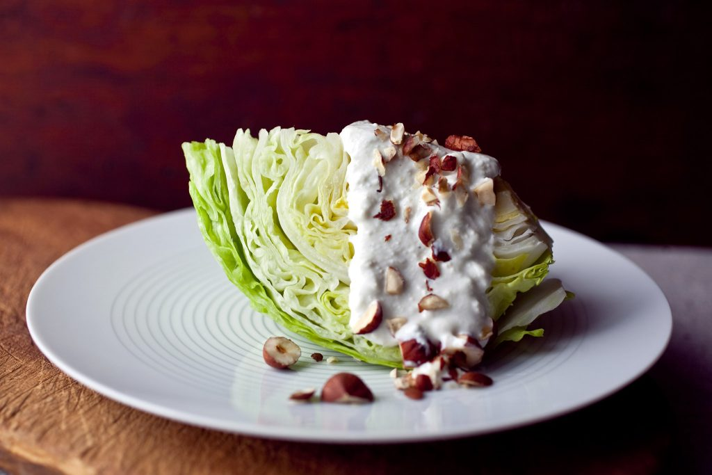 blue cheese wedge lettuce wraps