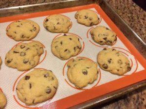 Baking Hacks - cookies on baking mat